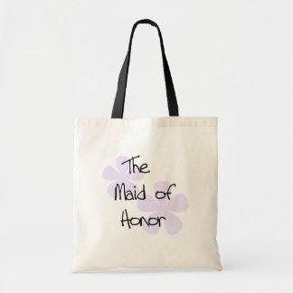 Lila Blumen-Trauzeugin Taschen
