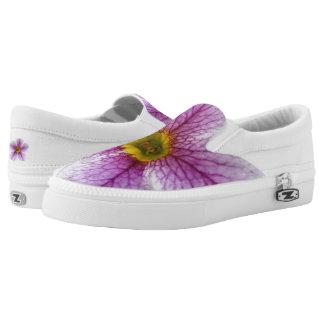 Lila Blumen-Zehen Slip-On Sneaker