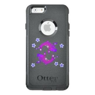 Lila BlumenKoi Fisch-Natur Asiens OtterBox iPhone 6/6s Hülle