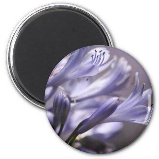 Lila Blumenmagnet Runder Magnet 5,1 Cm