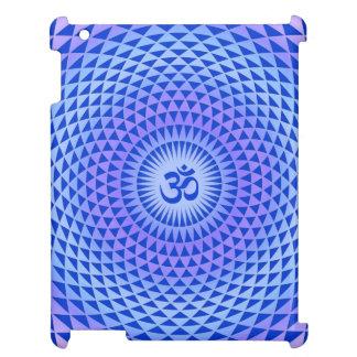 Lila Blumenmeditationsrad OM des blauen Lotos iPad Hülle