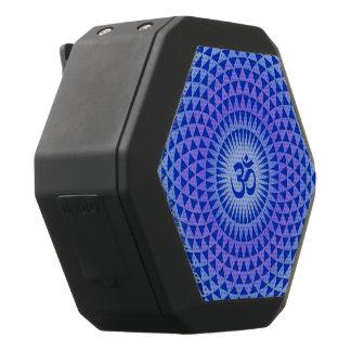 Lila Blumenmeditationsrad OM des blauen Lotos Schwarze Bluetooth Lautsprecher