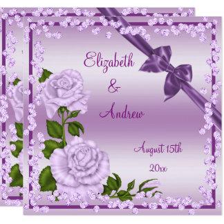 Lila Blüte, Bögen u. Diamant-Hochzeit Karte