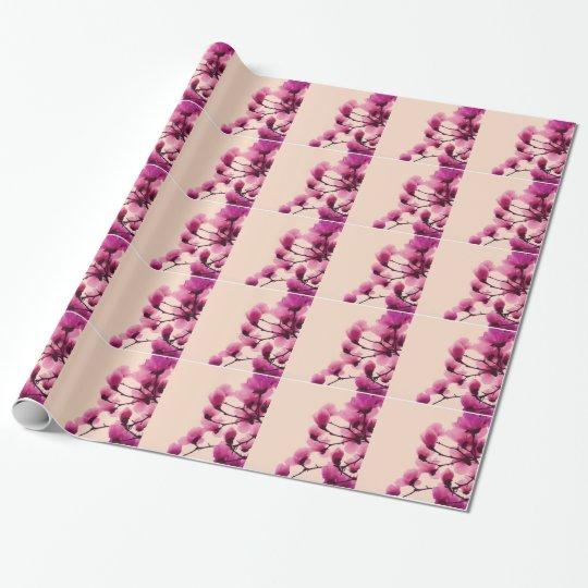 Lila Blüten Geschenkpapier