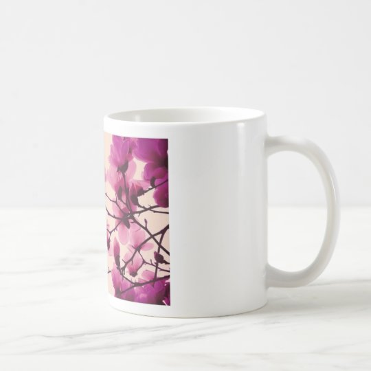 Lila Blüten Kaffeetasse