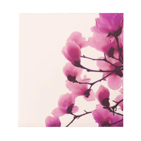 Lila Blüten Notizblock