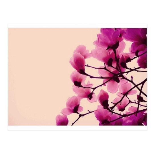 Lila Blüten Postkarte
