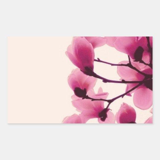 Lila Blüten Rechteckiger Aufkleber