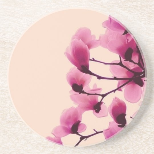 Lila Blüten Sandstein Untersetzer
