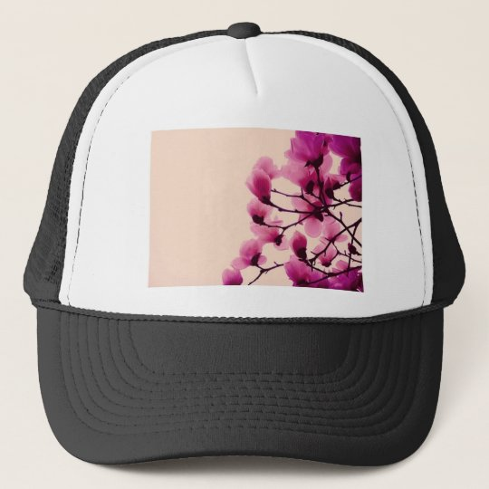 Lila Blüten Truckerkappe