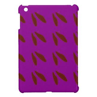 Lila Bohnen Browns. Entwurfsbohnen iPad Mini Hülle