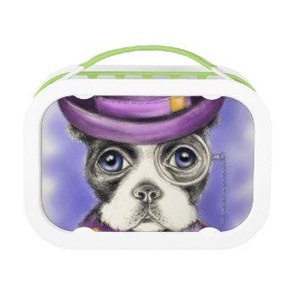 Lila Boston-Terrier-Detektiv Brotdose