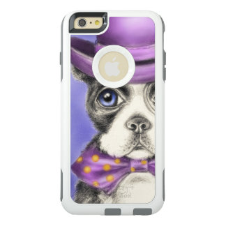 Lila Boston-Terrier-Detektiv OtterBox iPhone 6/6s Plus Hülle