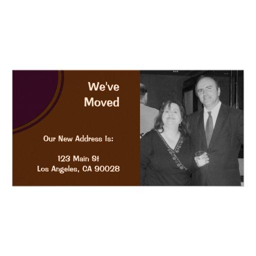 lila Braun haben wir Mitteilung bewegt Personalisierte Foto Karte