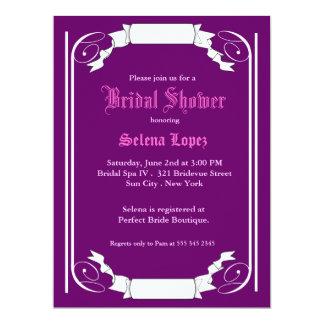 Lila Brautparty-Einladungen 16,5 X 22,2 Cm Einladungskarte