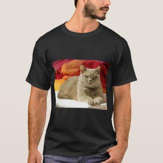 Lila britische shorthair Katze T-Shirt