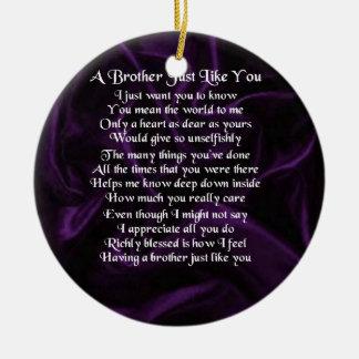 Lila Bruder-Gedicht Rundes Keramik Ornament