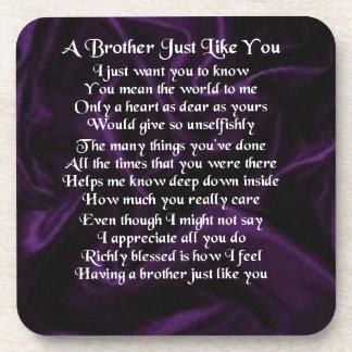Lila Bruder-Gedicht Untersetzer