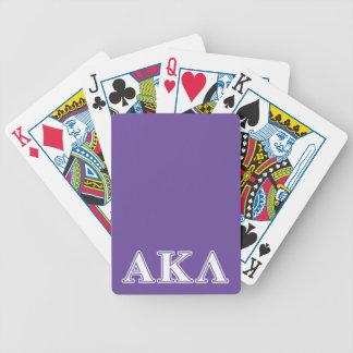 Lila Buchstaben Alphakappa-Lambdas Bicycle Spielkarten