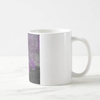Lila Büffel Kaffeetasse