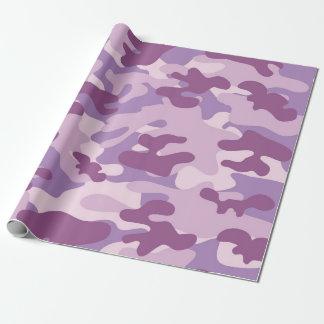 Lila Camouflage-Entwurf Geschenkpapier