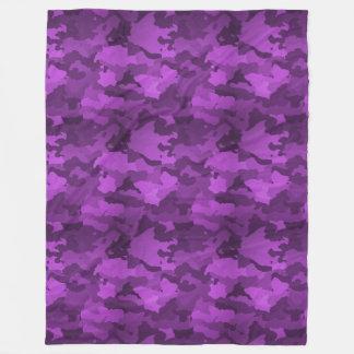 Lila Camouflage Fleecedecke