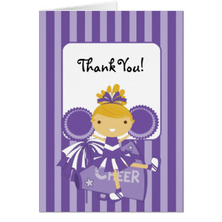 Lila Cheerleader KRW danken Ihnen zu merken Karte