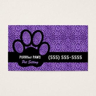 Lila Cheetah-Druck mit kundenspezifischem Visitenkarten