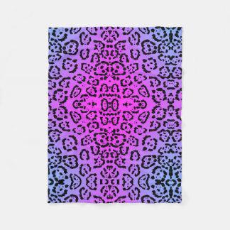 Lila Cheetah-Neonkatzen-Tierdruck Fleecedecke