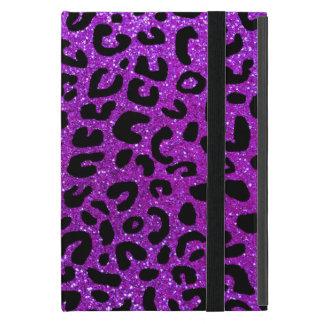 Lila Cheetahdruckneonmuster iPad Mini Hüllen