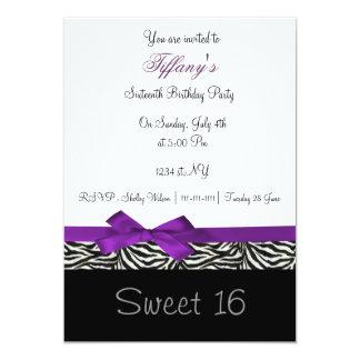 Lila Chic 16. Geburtstag Party Einladung