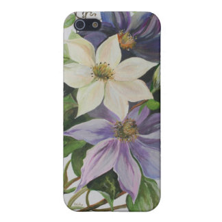 Lila Clematis iPhone 5 Case