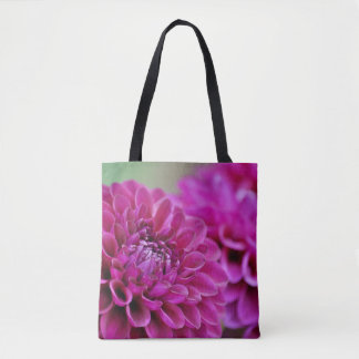 Lila Dahlie-Blumen Tasche