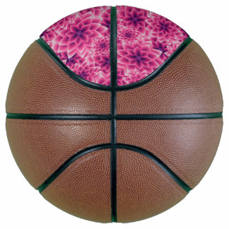 Lila Dahlie des bunten Musters des Sommers Basketball