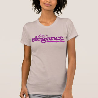 Lila Damast der wahren Eleganz u. Bandbügelspitze T-Shirt