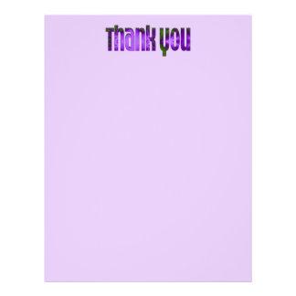 lila danke bedruckte flyer