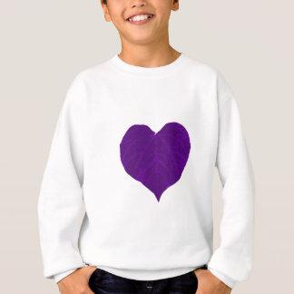 Lila das Herz-Blatt des Valentines Sweatshirt