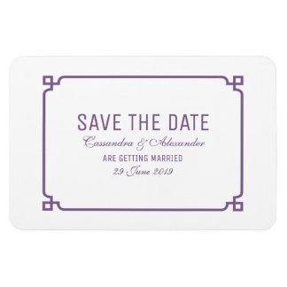 Lila DekoChic Save the Date Magnet