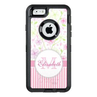 Lila, der Blumen, rosa u. weißer Streifen des OtterBox iPhone 6/6s Hülle