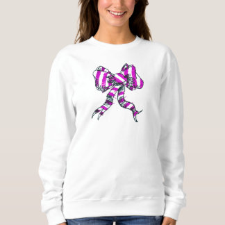 Lila der Bogen-Sweatshirt der Frauen Sweatshirt