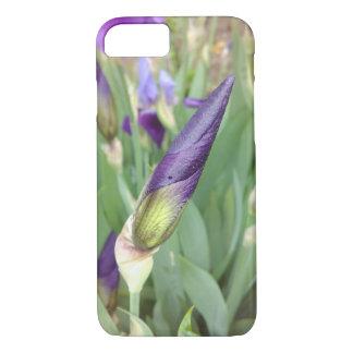 Lila deutsche Iris-Knospe iPhone 8/7 Hülle