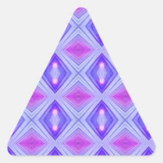 Lila Diamanten 2 Dreieckiger Aufkleber