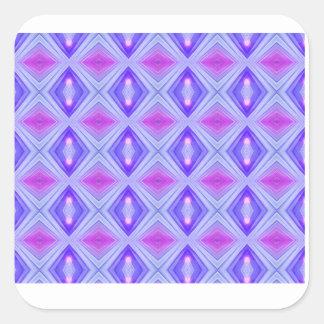 Lila Diamanten 2 Quadratischer Aufkleber