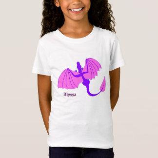 Lila Drache mit NamensShirt T-Shirt