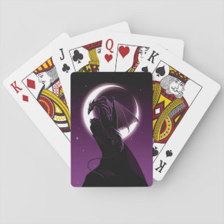 Lila Drache-Spielkarten Spielkarten