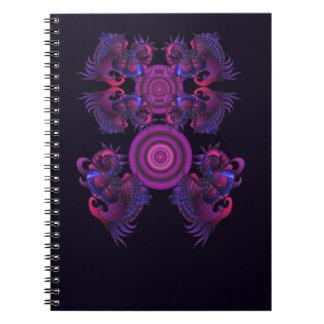 Lila Drachen Notizbuch