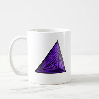 Lila Dreieck Kaffeetasse