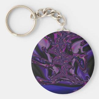lila Dunkelheits-Fraktal Schlüsselanhänger