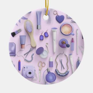 Lila Eitelkeits-Tabelle Keramik Ornament