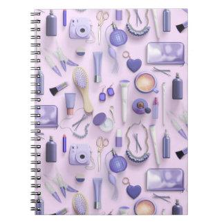 Lila Eitelkeits-Tabelle Notizblock